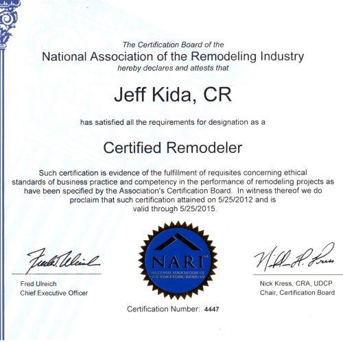 2015 CR Certificate